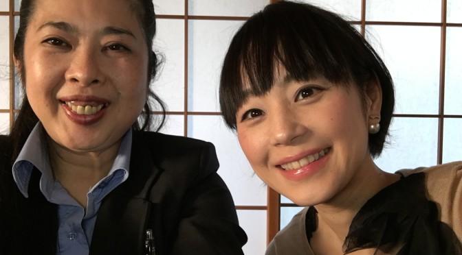 撮影の合間のひととき 宮脇さんに自撮りしてもらいました。恥ずかしいですが嬉しいので載せちゃいました。
